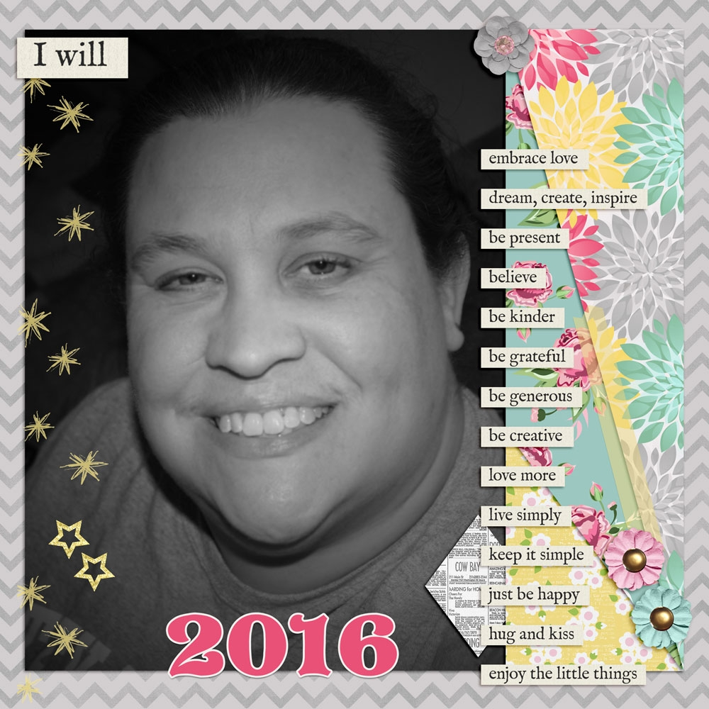 all-about-me-tina-2016-new-year-s-resolutions-layout-year-s-me-selfie-yellow-mint-green-pink-gray
