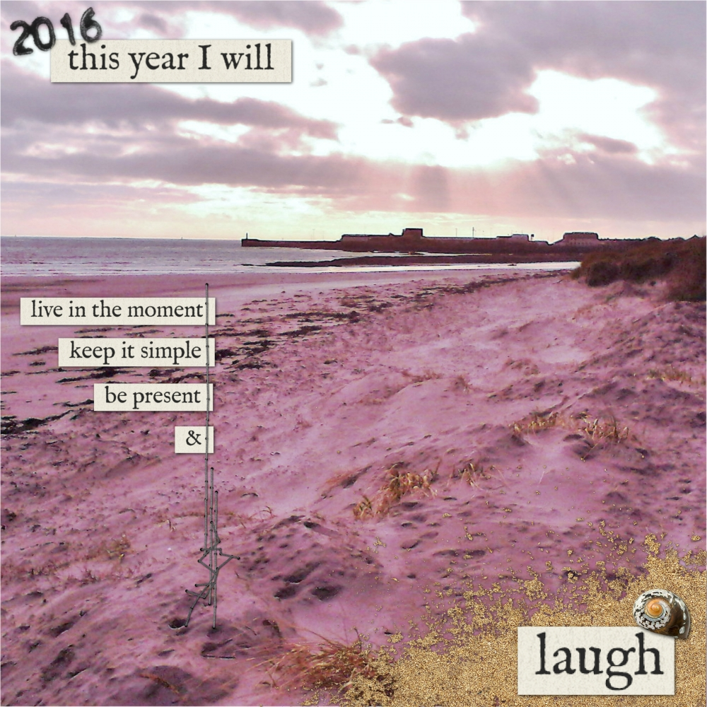 this-year-i-will-laugh-layout-big-photo-new-years-resolution-beach-white-black