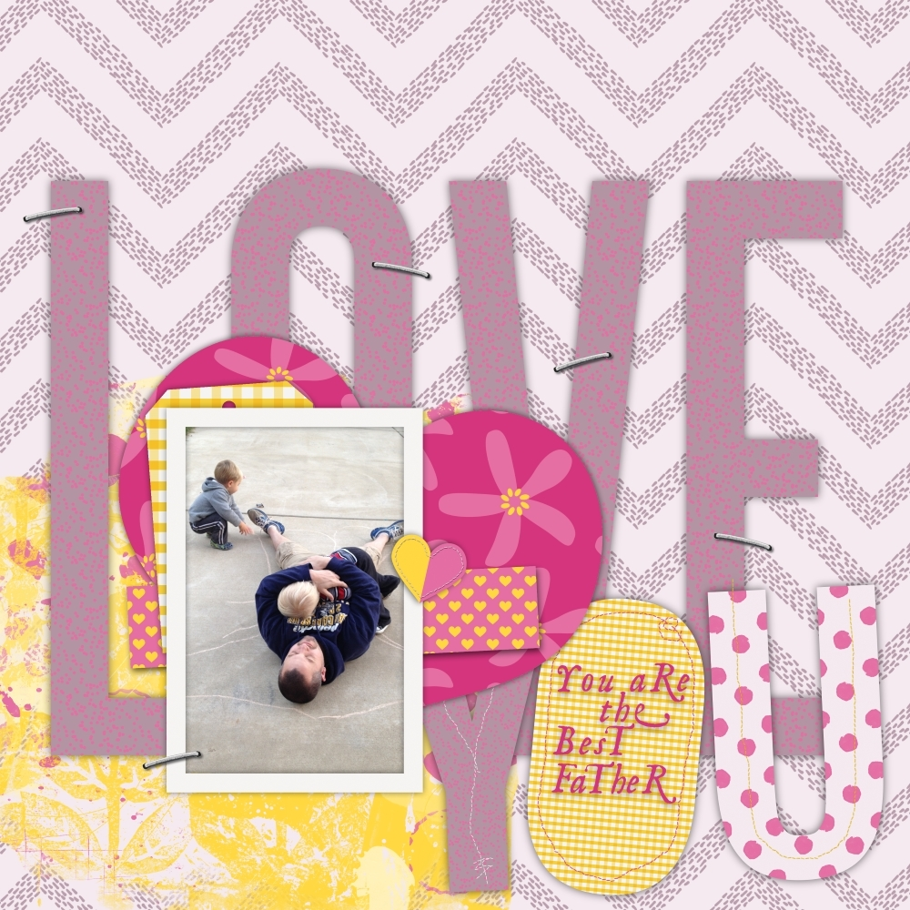 you-are-the-best-father-layout-love-yellow-purple-pink